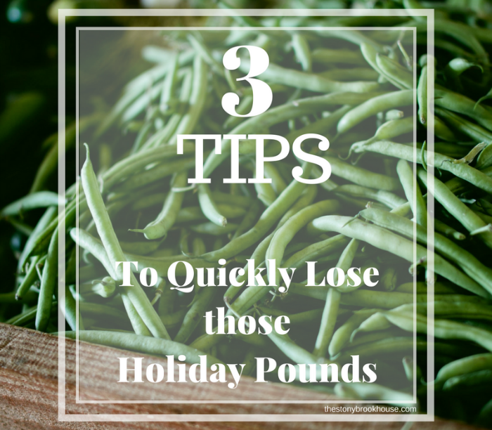 3 Tips To Lose Holiday Pounds