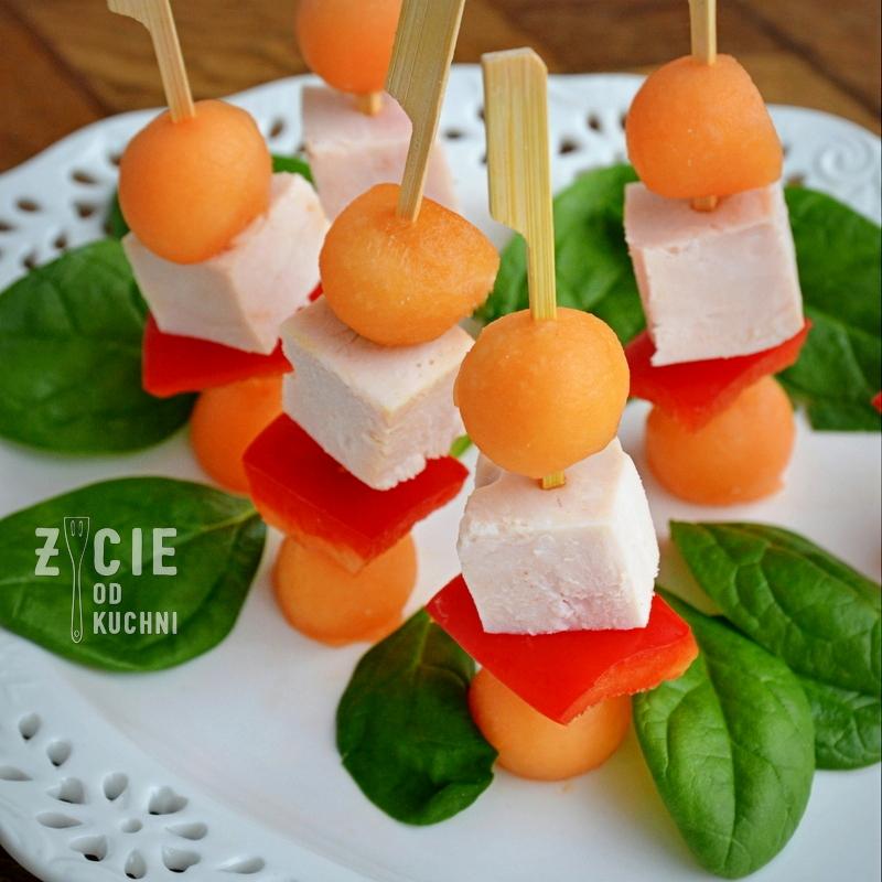 sylwester, koreczki, melon, danie na impreze, finger food, zycie od kuchni