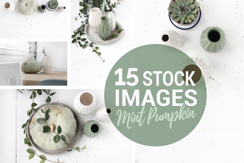 spring green pumpkin stock photo mockup