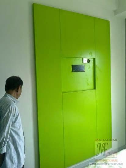 Projects Hotel Pop Tebet Jakarta: Backwall TV Kamar Hotel