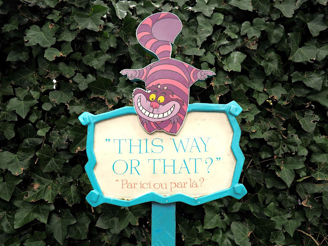 cheshire cat sign