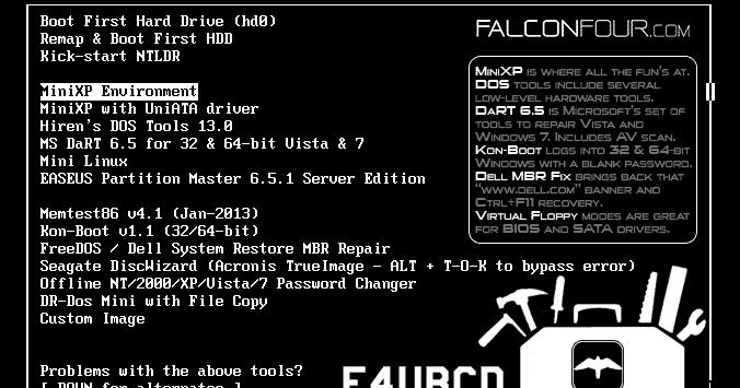 Falcon Boot Cd