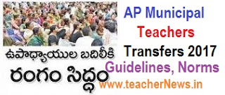 AP Municipal Teachers Transfers 2017 Guidelines, Schedule, Seniority list