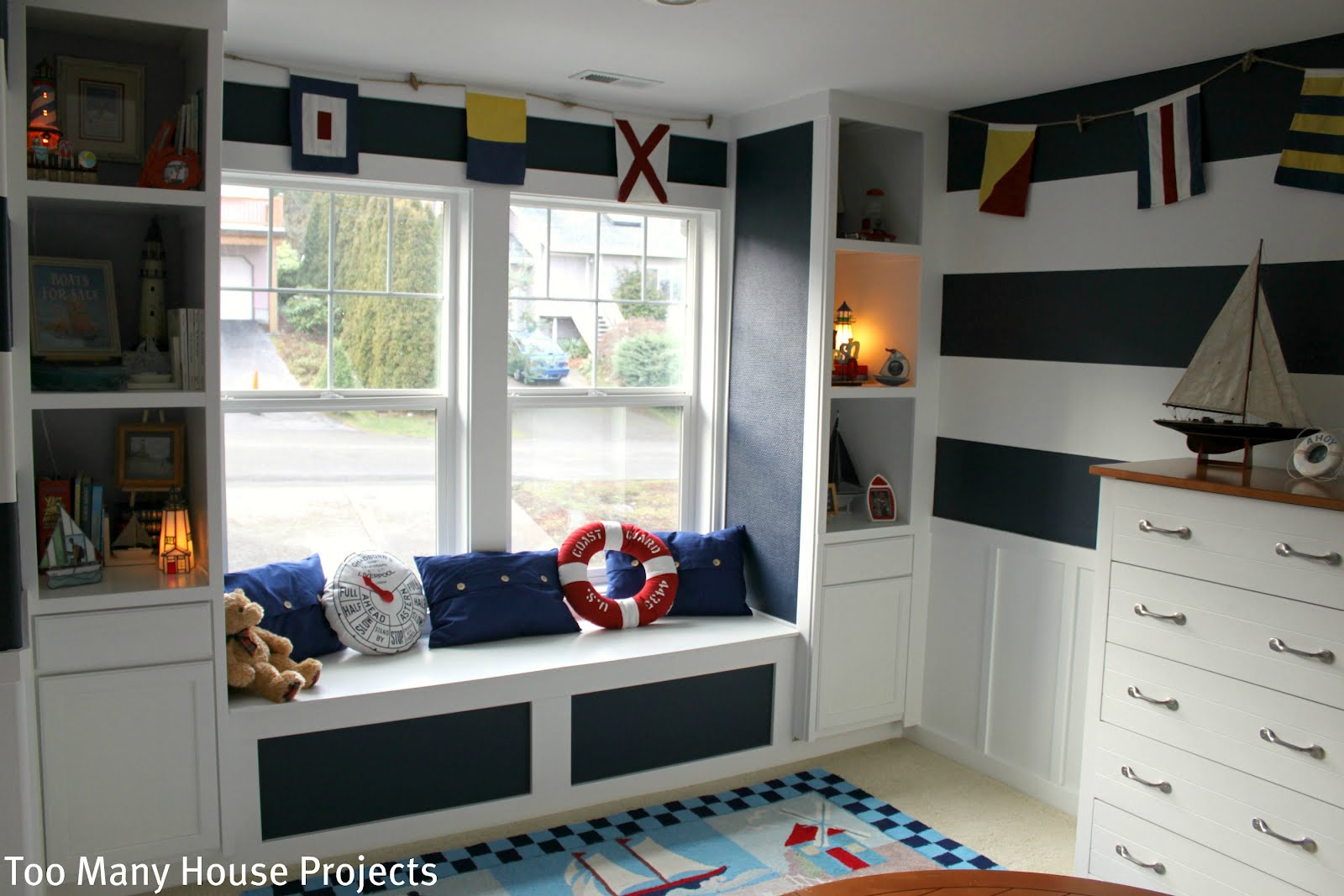 Too Many House Projects A Nautical Big Boy Room