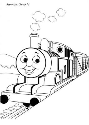 Mewarnai Gambar Kereta Api Thomas Dunia Mewarnai