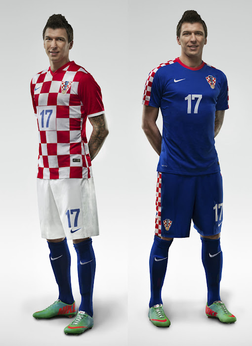 2b910531b The Croatia Home Shirt comes with the usual checkered design and red  sleeves