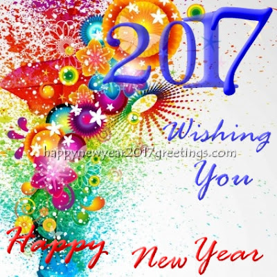 Happy New Year 2017 Colorful Greetings Images