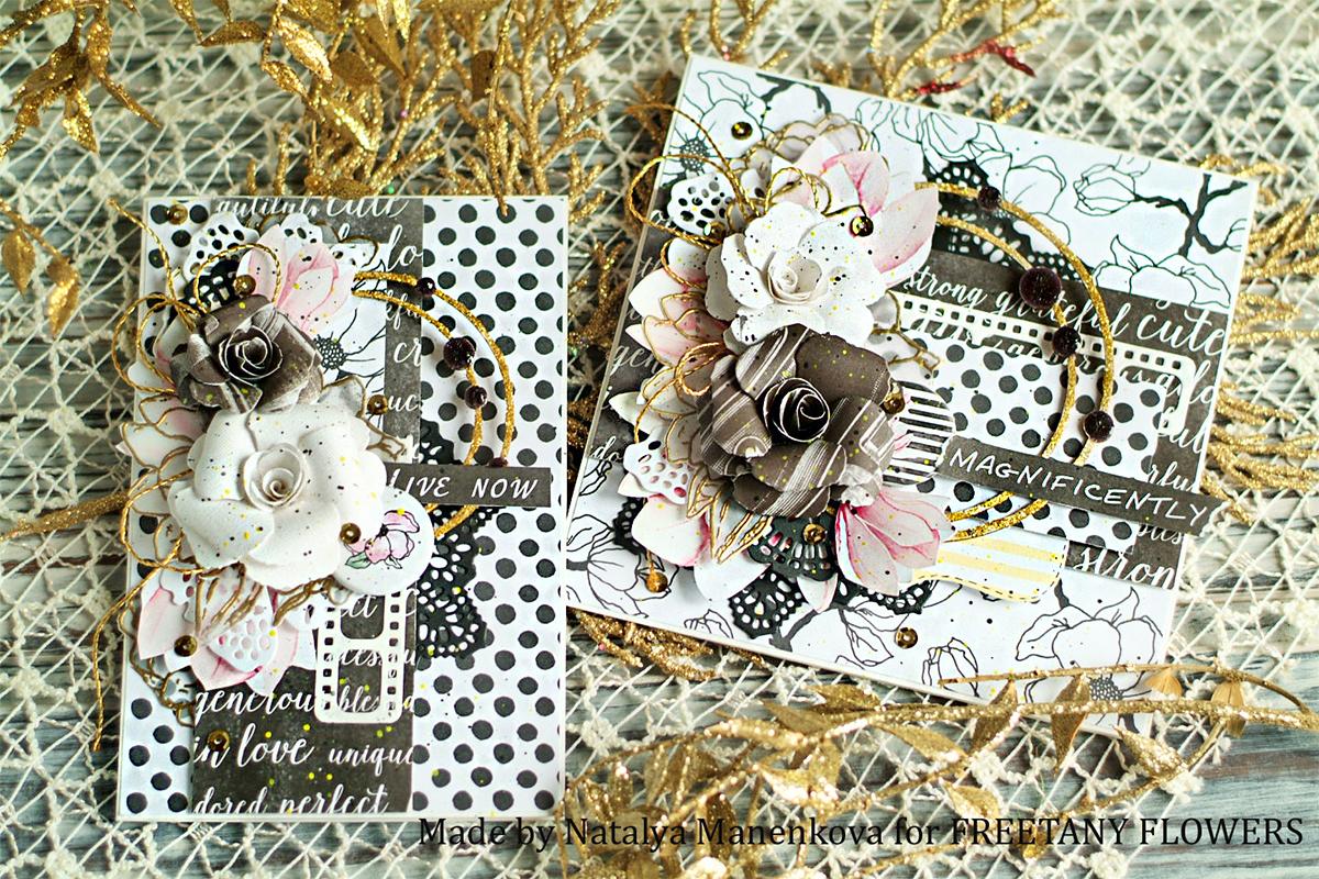Блок, скрапбукинг открытки сестре