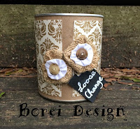 How to recycle a can into change storage and sew a fabric yo yo.