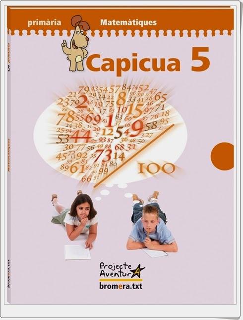 """""""Capicúa 5"""". Actividades digitales de Matemáticas de 5º de Primaria. Ediciones Bromera."""