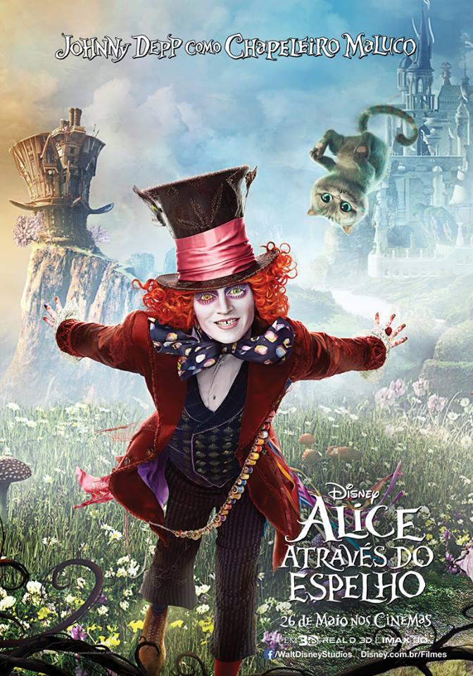 Novos pôsteres de Alice Através do Espelho