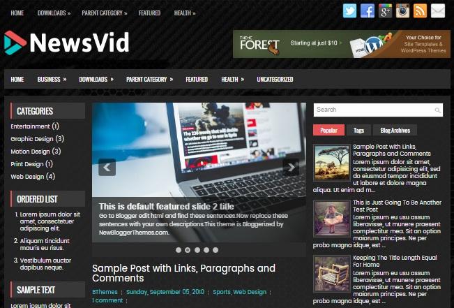 template gratis untuk situs berita