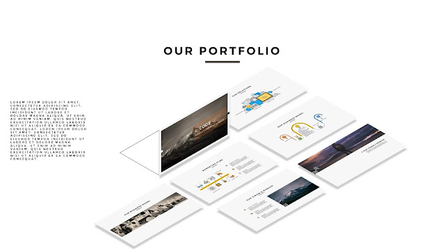 Free Premium Multi Purpose PowerPoint Template [CODE] with Screen Layout Mockup 1