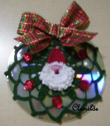 Enfeites para o natal com CDs 13