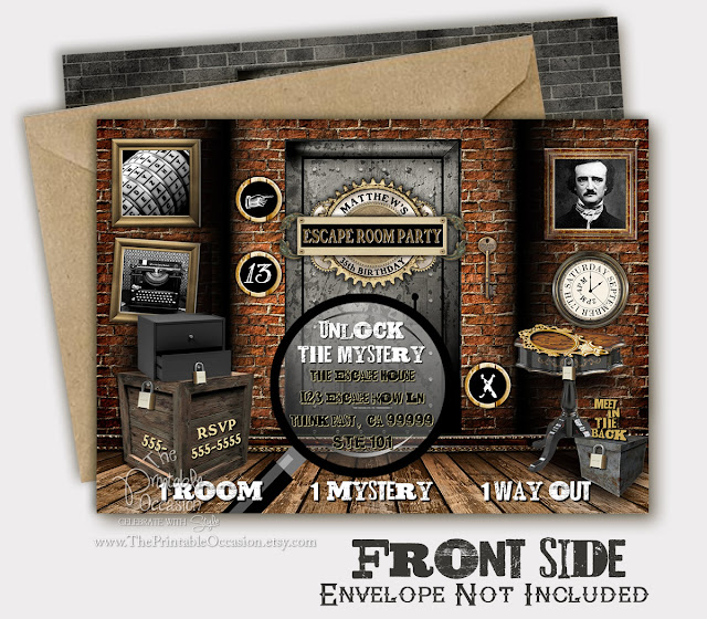 graphic regarding Printable Escape Room identified as The Printable Bash - Bash Printables: Escape Place