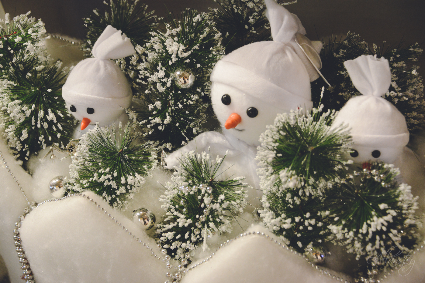 cute pretty snomen white Christmas winter holiday decorations