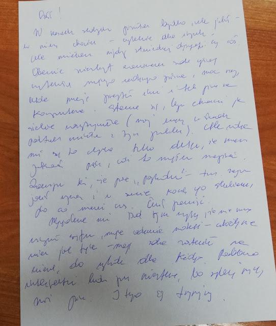 Wpis odręczny na Dzień Pisma Odręcznego :)