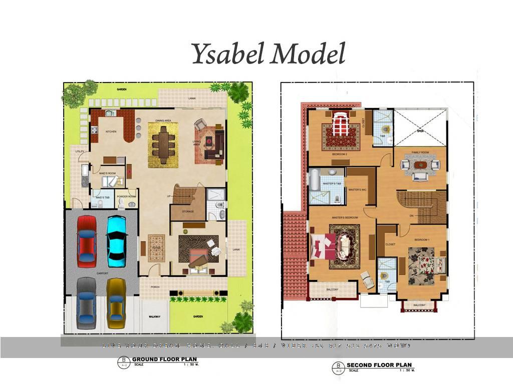 Floor Plan of Versailles Alabang - Ysabel | House and Lot for Sale Daang Hari Las Pinas