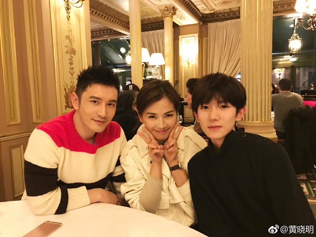Huang Xiaoming, Liu Tao, Wang Yuan Paris Fashion Week