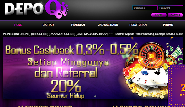DepoQQ Situs Poker Online, DominoQQ, dan BandarQ Terpercaya