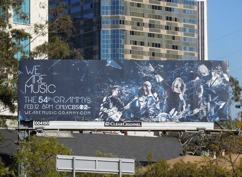 54th Grammys Foo Fighters billboard