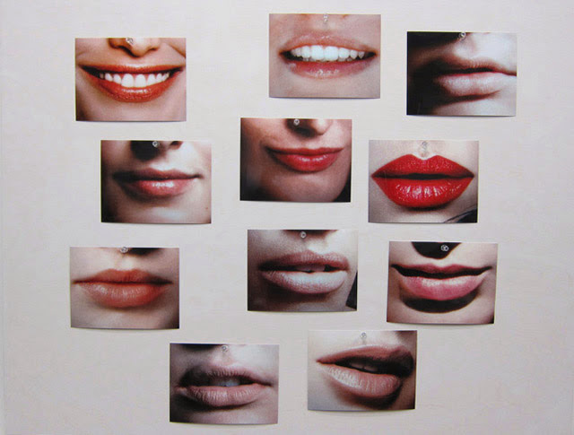 Hans-Peter Feldmann, Lips 11 photographs mounted on board
