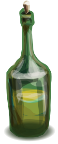 blurry green bottle clipart