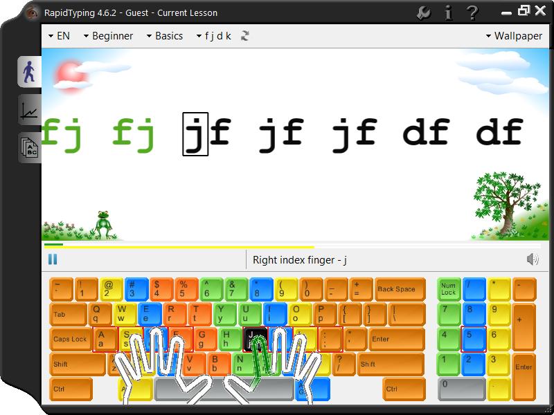 Manejo del Teclado con Rapid Typing - Computación para Niños