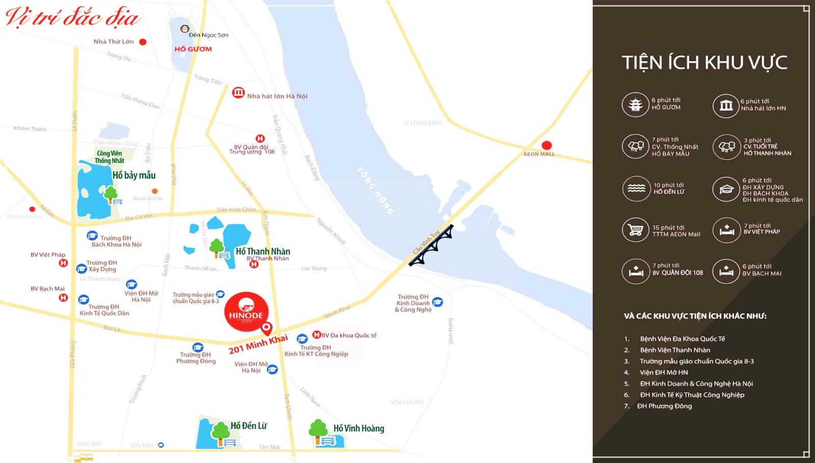 Vị trí đắc địa của chung cư Hinode City