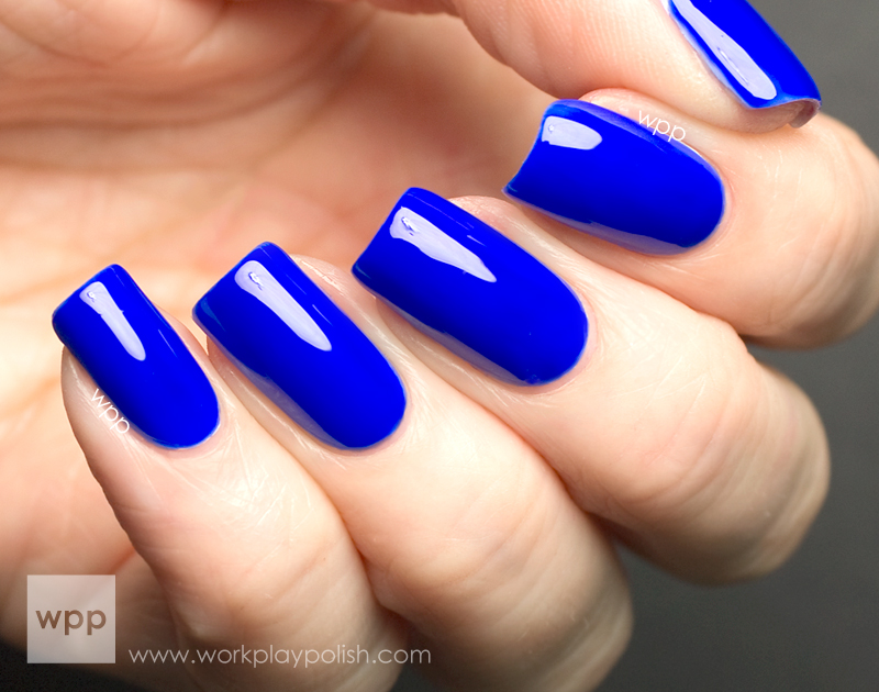 Nicole by OPI (NOPI) Neon Blue from the Scandalous! NEONS Collection