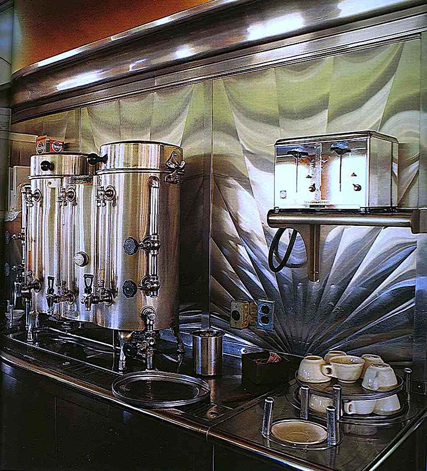 a 1940s restaurant coffee counter photograph