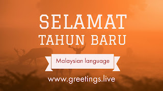 Good Happy New Year in Malaysian language