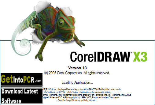 corel draw x3 version 13 software free download