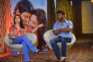 Vishal and Tamannah Stills at Okkadochadu Movie Press Meet  0012.jpg