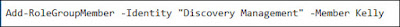 Enable EDiscovery Permissions in Exchange Server 2016