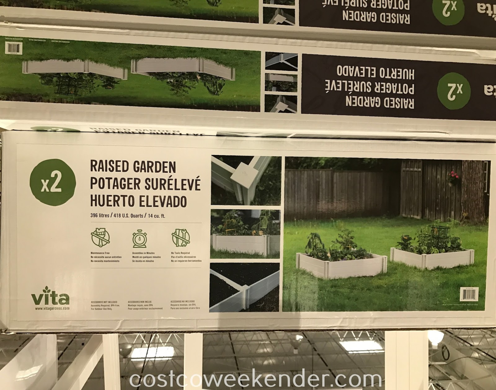 Costco 972194 - Bring out your inner gardener/farmer with the Vita White Vinyl Raised Garden Bed
