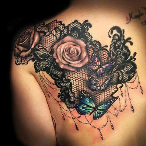 25 Gorgeous Lace Tattoos For Girls