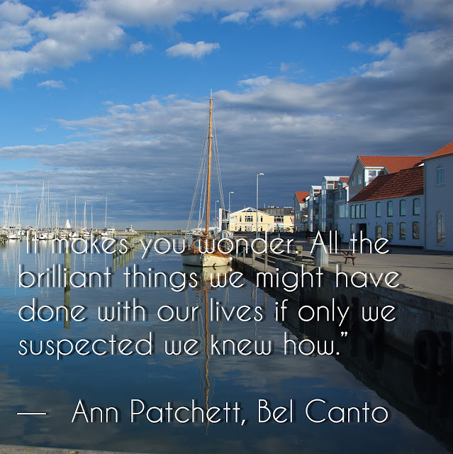 It makes you wonder. All the brilliant things we might have done with our lives if only we suspected we knew how. - Ann Patchett, Bel Canto