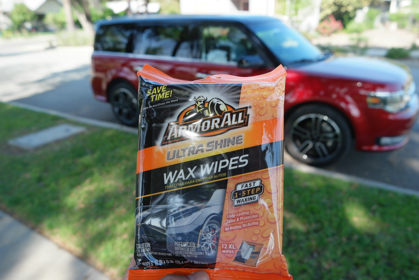 armor all ultra shine wax wipes which again are so easy to use these pre waxed wipes bring out the shine in my car so effortlessly with no buffing or