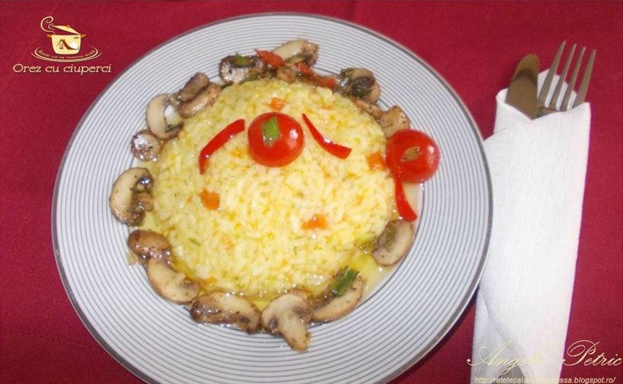 Reteta orez cu ciuperci, preparat orez cu ciuperci