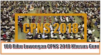 100 Ribu Lowongan CPNS 2018 Khusus Guru Disetujui