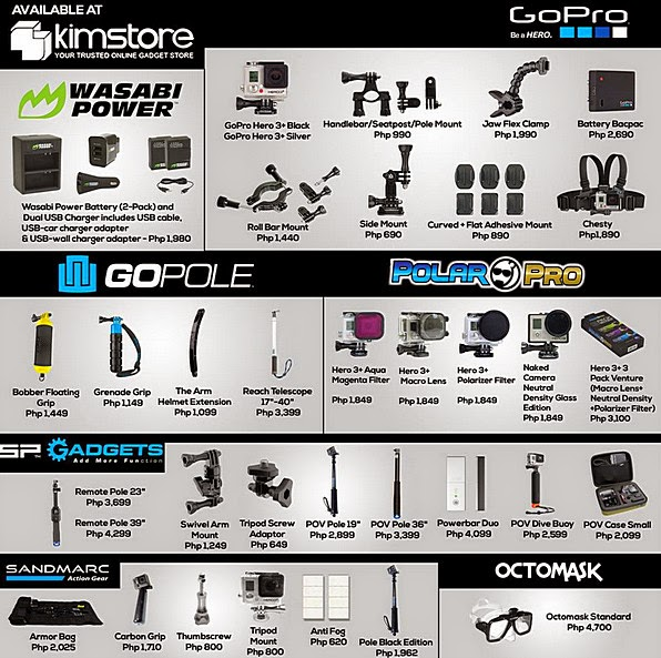 Gopro Roll Bar Mount >> GoPro Philippines Prices for Cameras, Accessories, Monopods, Tripods, Anti-Fog Inserts - TechPinas