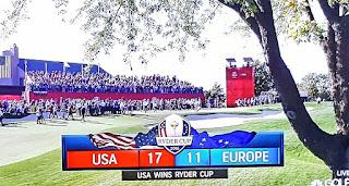 Ryder Cup 2016 final score