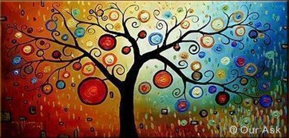 modern art tree painting