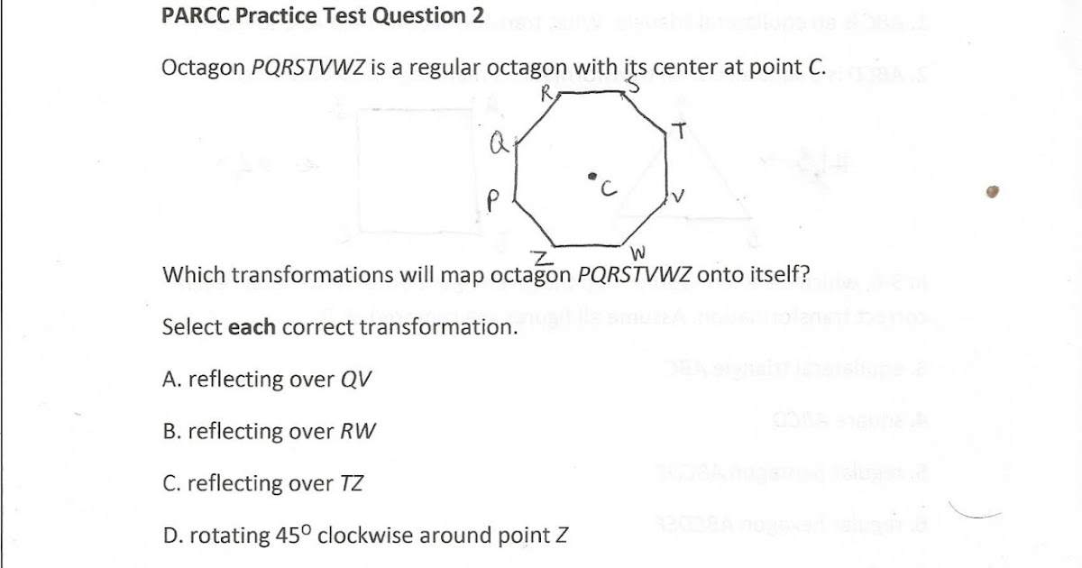 Geometry, Common Core Style: PARCC Practice Test Question 2 (Day 145)