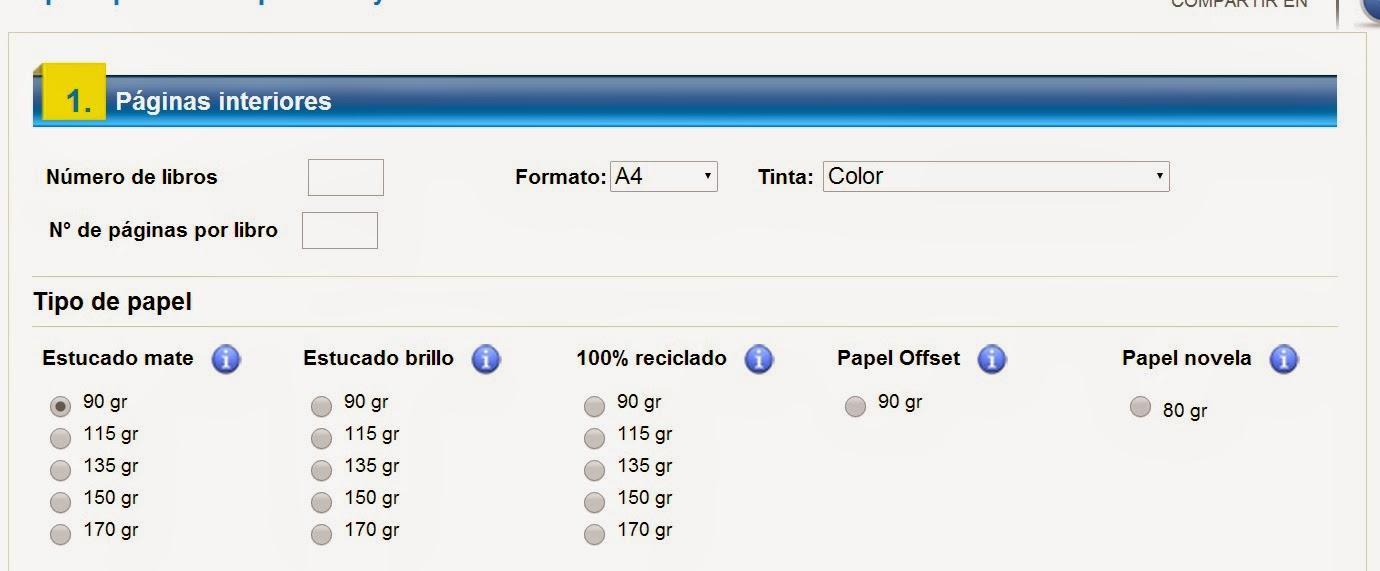 Editar mi libro.: papel color