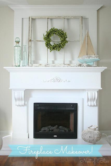 Diy Fireplace Mantel Makeover Nest Of Bliss
