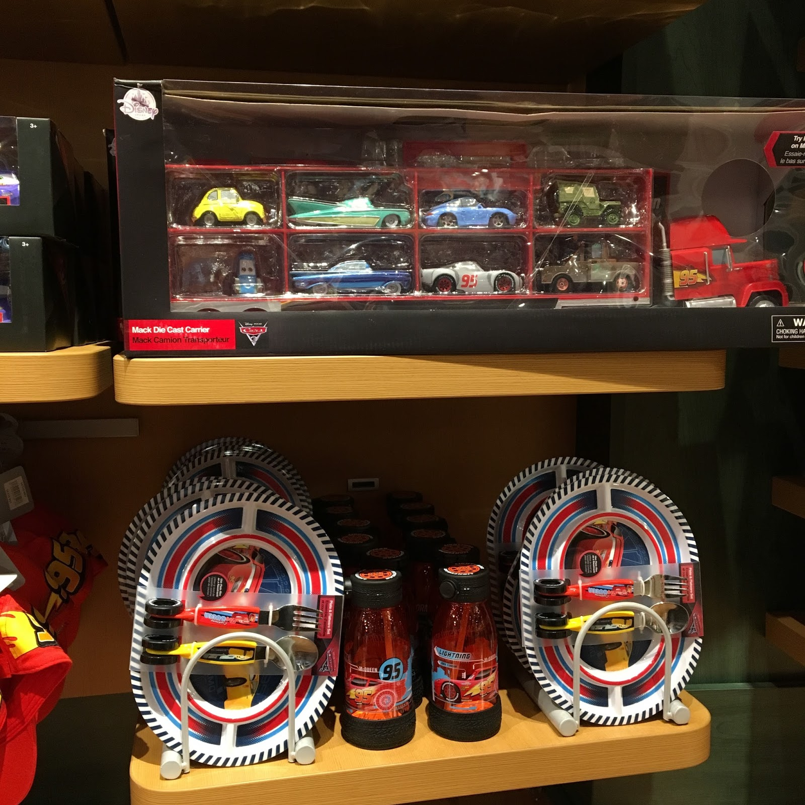 disney store cars 3 merchandise toys display 2017