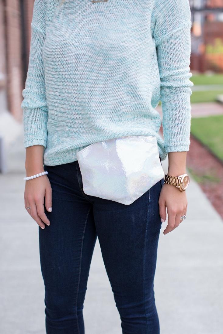 Hexagon shaped purse bag