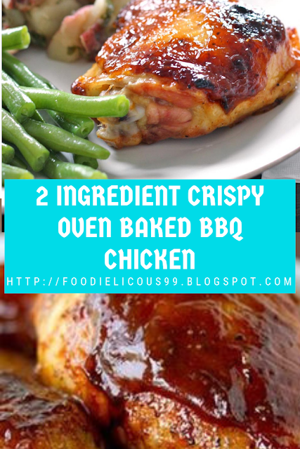 2 INGREDIENT CRISPY OVEN BAKED BBQ CHICKEN RECIPE